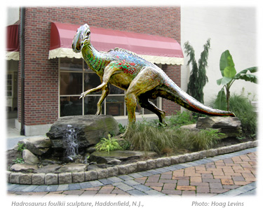 john giannottis hadrosaurus foulkii sculpture in hadrosaurus lane is now the central landmark of downtown haddonfield